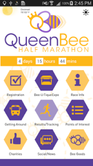 Queen Bee Half Marathon Race App